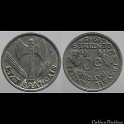 Bazor - 50 c. - 1942 médaille