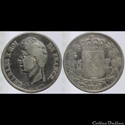 Charles X - 5 francs - 1829 Bayonne