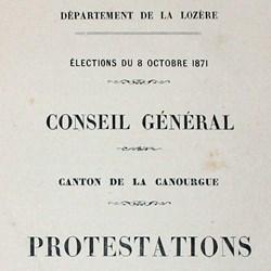 Protestation des élections de 1871
