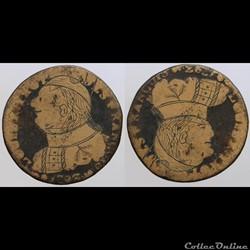 Louis XVI - 2 sols regravée
