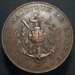 Médaille du 2ème prix Yoles de mer, 4 ra...