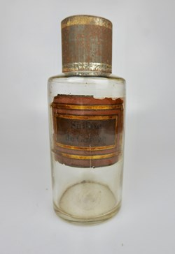 Flacon en verre petit modèle Pharmacie R...