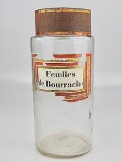 Flacon en verre Herboristerie très grand...