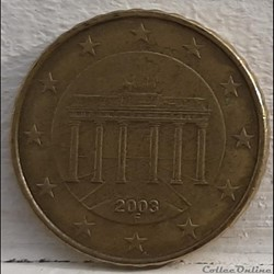 Allemagne - 2003 - F - 10 cents