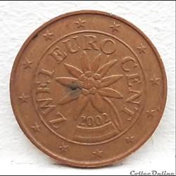 Autriche - 2002 - 2 cents