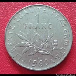 1 franc 1960 - grand 0