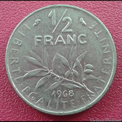 50 centimes 1968