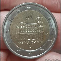 Allemagne - 2017 - D - 2 euros la Porta Nigra
