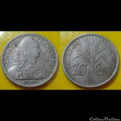 Indochine - 20 centimes 1941