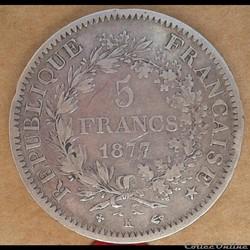 5 francs 1877 K