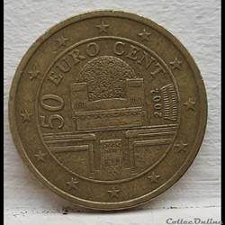 Autriche - 2002 - 50 cents