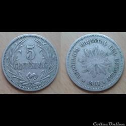 Uruguay - 5 centesimos 1901