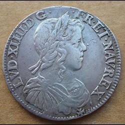 Louis XIV - Demi écu a la mèche longue 1...
