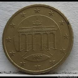 Allemagne - 2002 - G - 50 cents