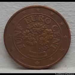 Autriche - 2002 - 5 cents