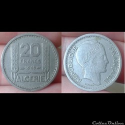 Algérie - 20 francs 1949