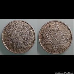 MAROC - 100 francs 1953