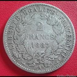 2 francs 1887 A