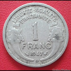 1 franc 1947 B