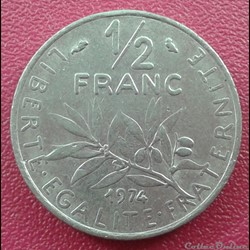50 centimes 1974