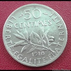 50 centimes 1918