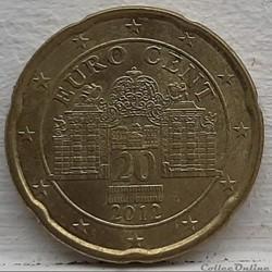 Autriche - 2012 - 20 cents