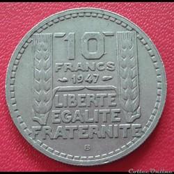 10 francs 1947 B - Petite tête