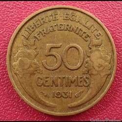 50 centimes 1931 (a)