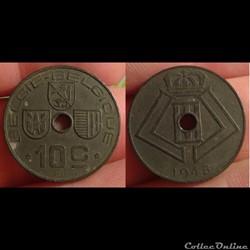 Belgique - 10 centimes 1945