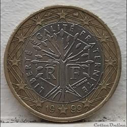 France - 1999 - 1 euro