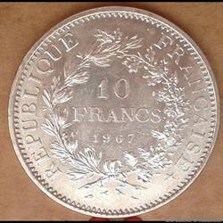 10 francs 1967 (accent)
