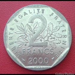 2 francs 2000 - sans point