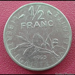 50 centimes 1965