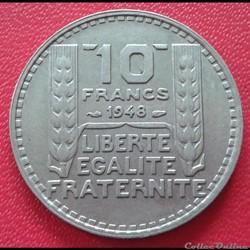 10 francs 1948 - Petite tête