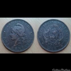 Argentine - 2 centavos 1890