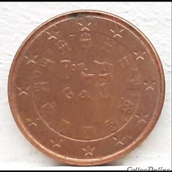 Portugal - 2004 - 1 cent