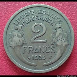 2 francs 1934