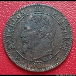 2 centimes 1861 A - buste définitif