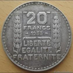 20 francs 1933 - rameaux longs