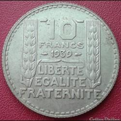 10 francs 1939