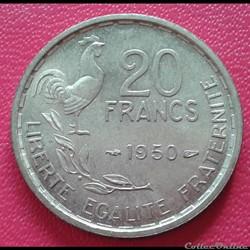 20 francs 1950 - 4 faucilles