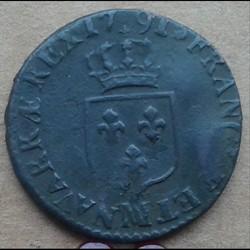 1791 MA - 1/2 sol à l'écu