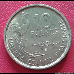 10 francs 1954 B