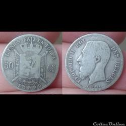 Belgique - 50 centimes 1899