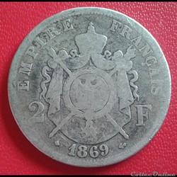 2 francs 1869 A