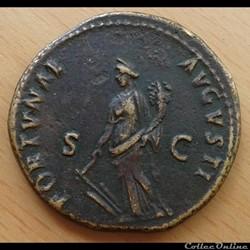 Domitien - Dupondius - Fortunae
