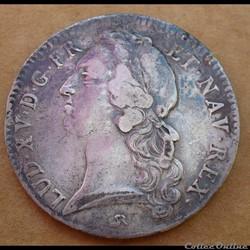 Louis XV - Ecu au bandeau 1742
