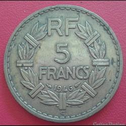5 francs 1946 C - BR.ALU