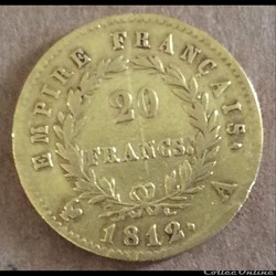 20 francs 1812 A