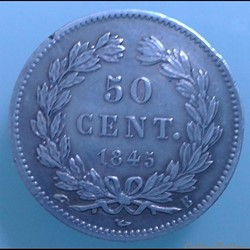 Louis Philippe Ier - 50 centimes 1845